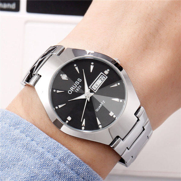 Watch female students steel band Korean version trend simple fashion waterproof casual womens watch personality quartz watch womens watch 9C0V Malaysia