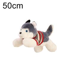 Siberian Husky trong áo phông màu Đỏ nằm nhồi bông Chó nhồi bông đồ chơi trẻ em Quà tặng