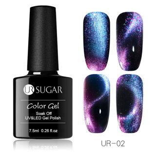Zhixin URSUGAR Ganda Kepala Magnet Cat Eye Gel Polish Rendam Off UV LED Pernis Lacquer thumbnail