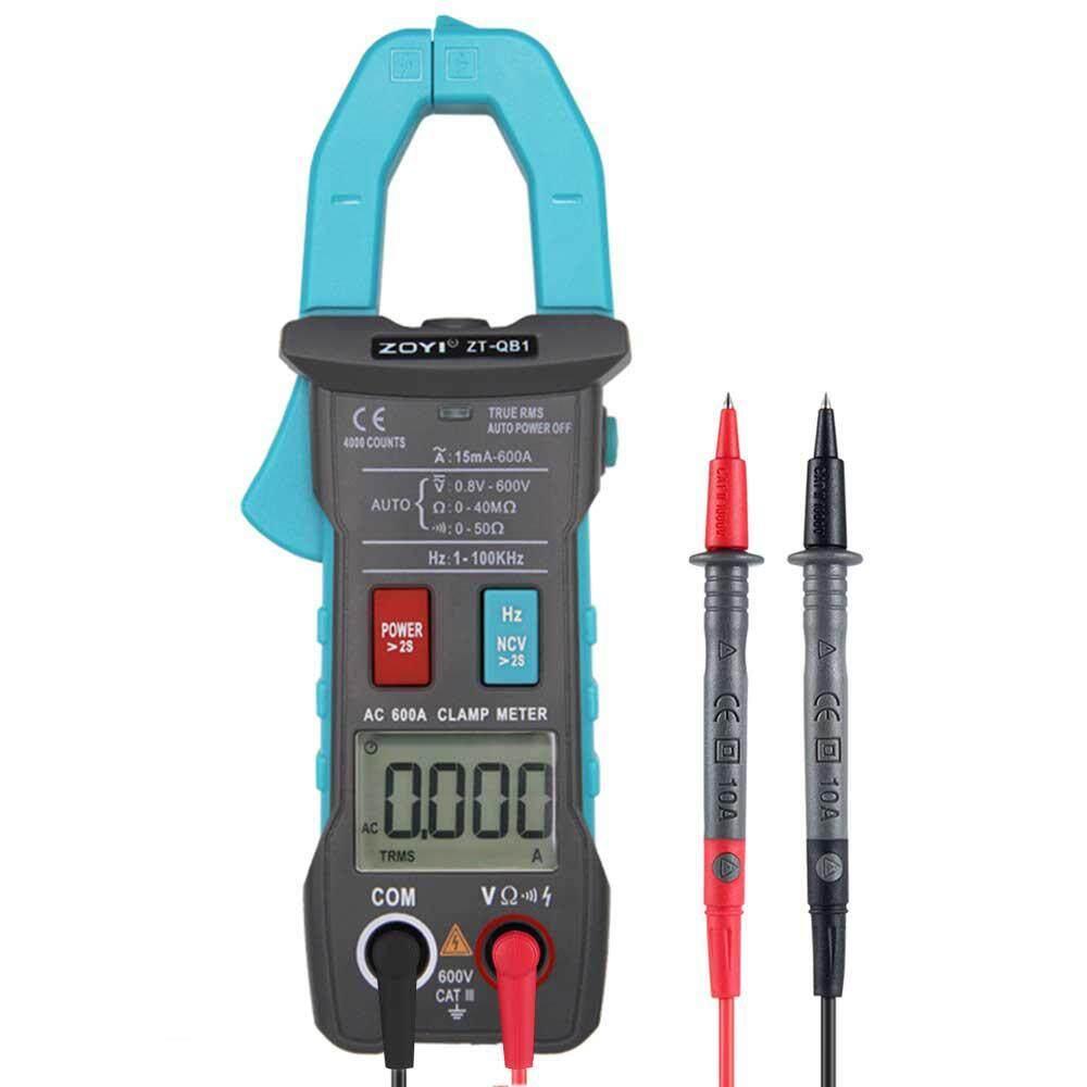 Bumblebaa ZT-QB1 Độ chính xác cao 4000 từ đánh lừa loại kẹp kỹ thuật số Đồng hồ đo vạn năng (17*6 cm, kẹp bàn + túi đựng + Tặng bút thử + Pin AAA 1 + Tặng dây)
