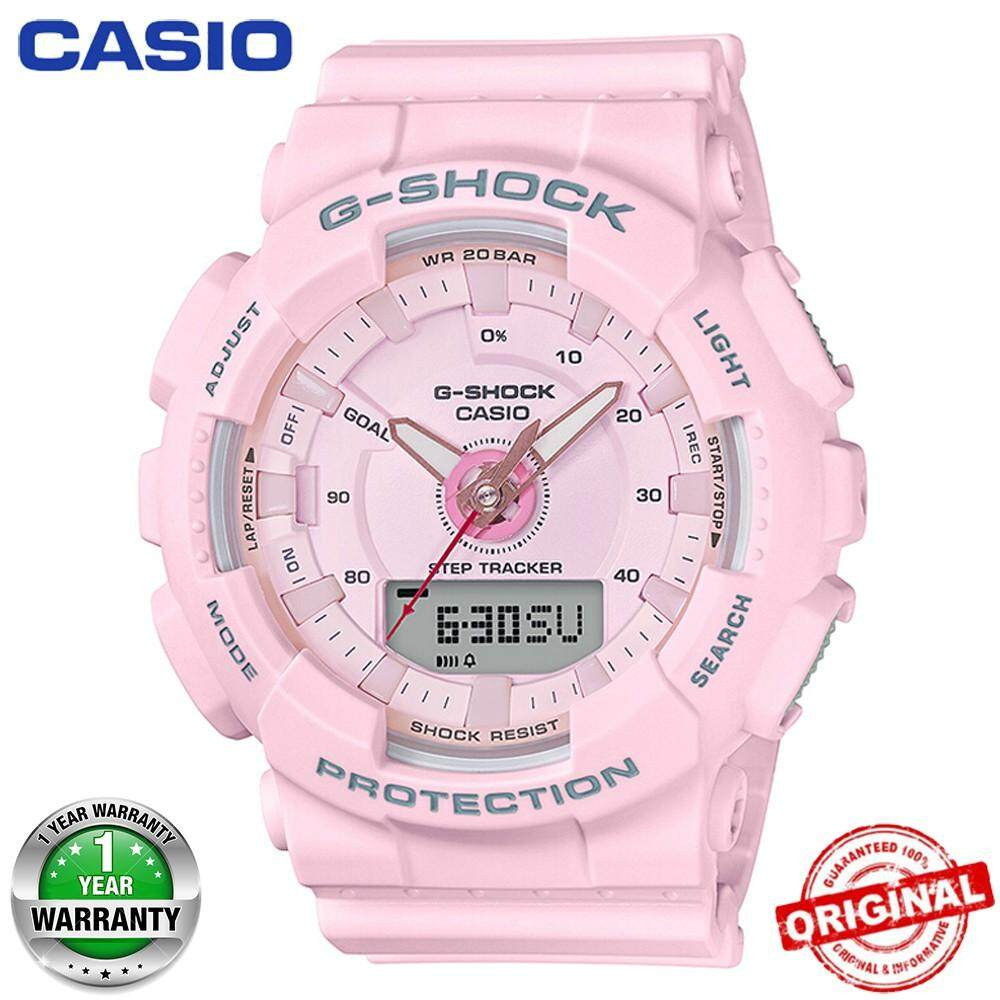 (Free Shipping) Original Casio G Shock_GMAS-130 Men Sport Watch Duo W/Time 200M Water Resistant Shockproof and Waterproof World Time LED Auto Light Wist Sports Watches with 2 Year Warranty GMAS130/GMAS-130 Malaysia