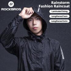 ROCKBROS Cycling Waterproof Jacket Men Breathable Reflective Hooded Raincoat Waterproof Outdoor Sport Windbreaker