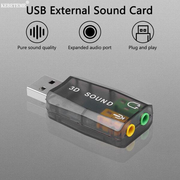 KEBETEME Card Âm Thanh USB 3D Bên Ngoài Kênh Chuyển Đổi Âm Thanh 5.1 Giao Diện Loa Mic 3.5Mm, Dành Cho Máy Tính Xách Tay