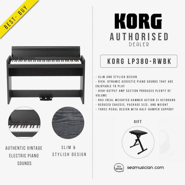KORG DIGITAL PIANO LP380-RWBK ROSEWOOD BLACK FINISH (KORG-LP380-RWBK) Malaysia
