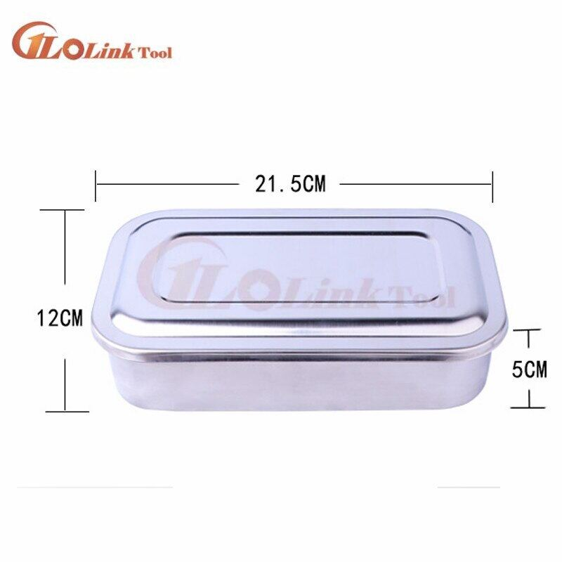 304 Thick Medical Stainless Steel Disinfection Tray Square Plate With Hole Cover Medical Equipment And Surgical Instrument Parts.