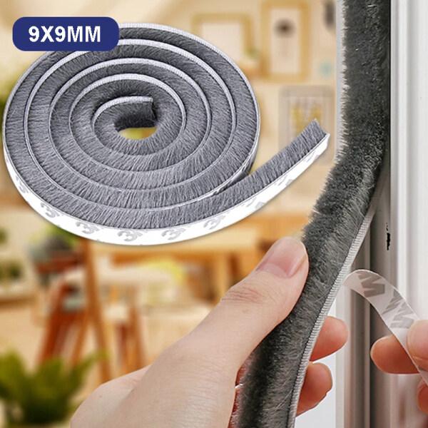 3Meters/5Meters/10 Meters Brush Strip Self Adhesive Door Window Sealing Strip Home Door Window Sound Insulation Wind-proof Strip Gasket