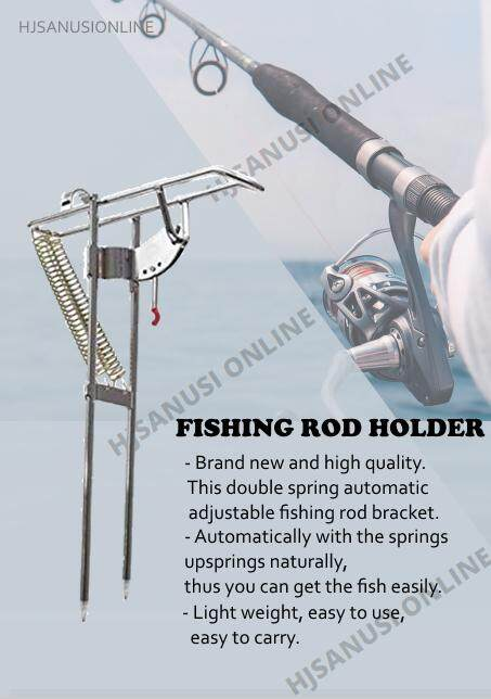 automatic fishing rod holder upgraded double spring thickened steel fishing#pole
