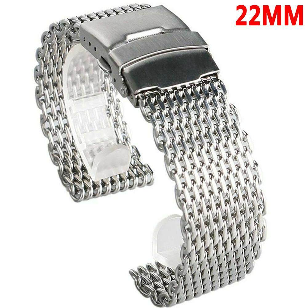 Adjustable Solid Stainless Steel Wear Resistant Milanese Replacement Watch Strap