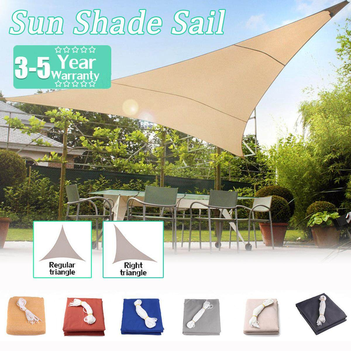 【Free Shipping + Flash Deal】4m x4m x5.7m Light Beige Regular Triangle Right Triangle Extra Heavy Duty Shade Sail Sun Outdoor