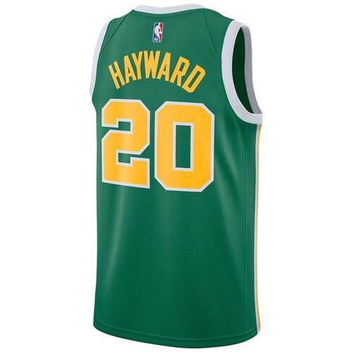f63b9881b91a Nike Official Men s Boston Celtics Gordon Hayward  20 Green 2018 19 Swingman  Basketaball Jersey – Earned Edition Sport Size S-2XL