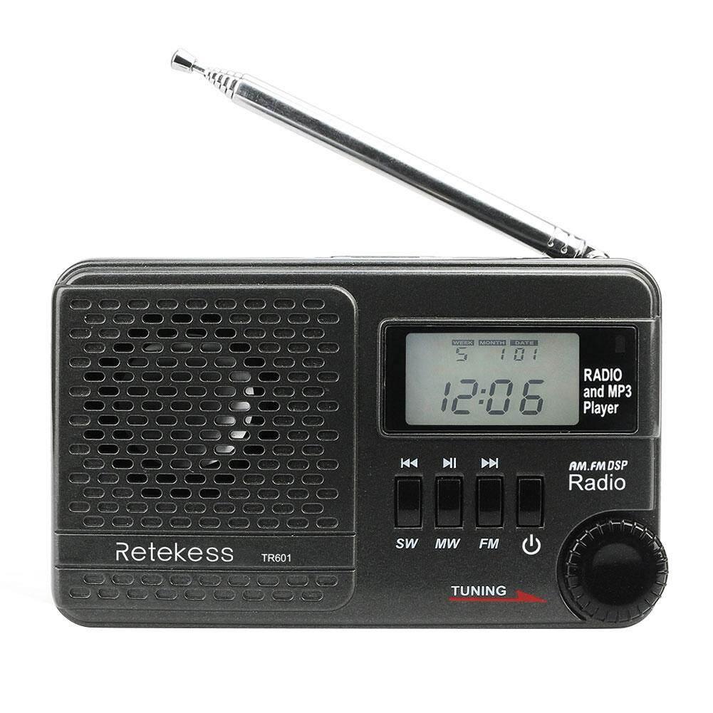 TR601 FM AM SW Mini MP3 Player Multi-band Digital Stereo DSP Radio Receiver Audio Adapter