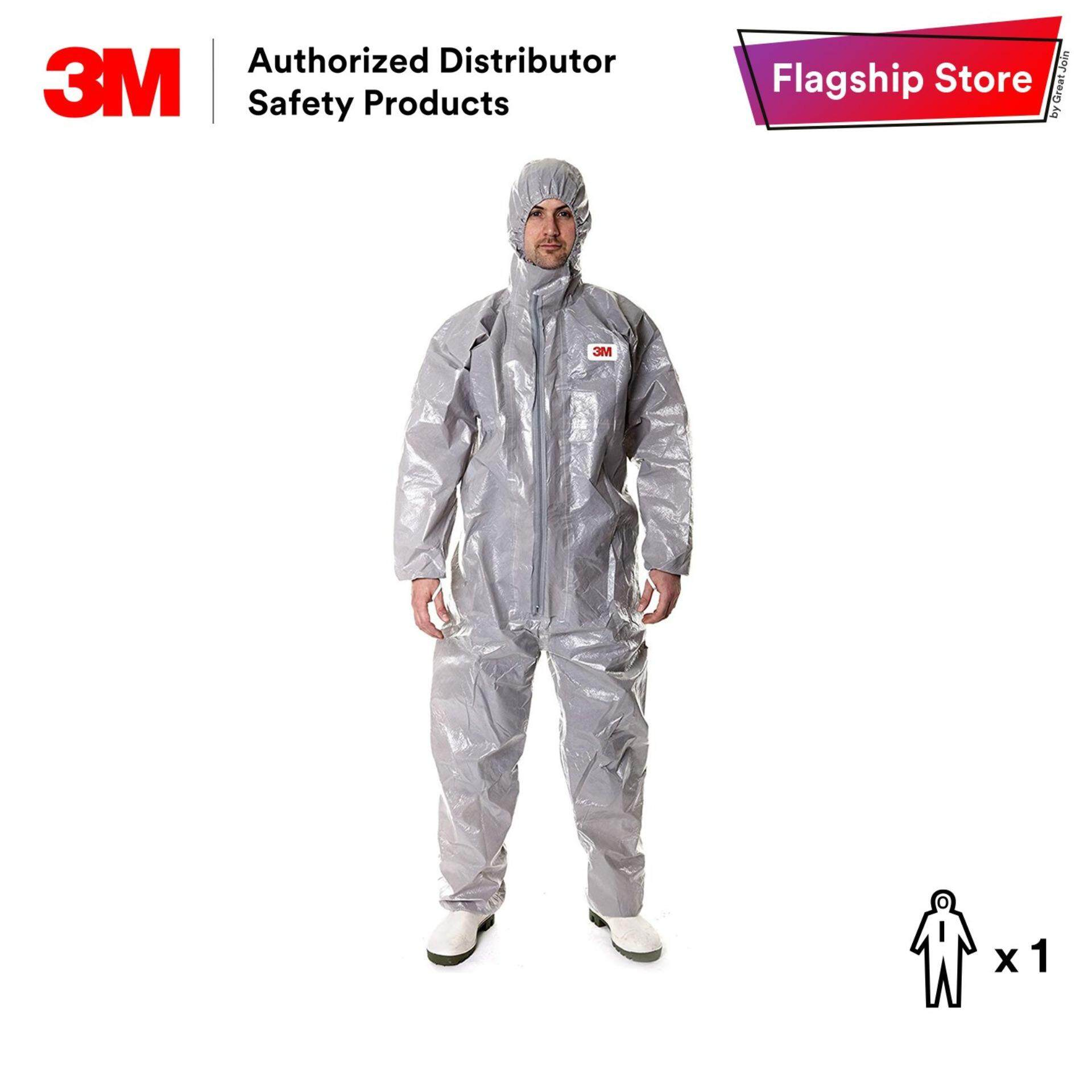 3M 4570 Chemical Protective Coverall / Liquid Chemicals / Chemical Sprays Protection [ Size XXL / 1 Piece]