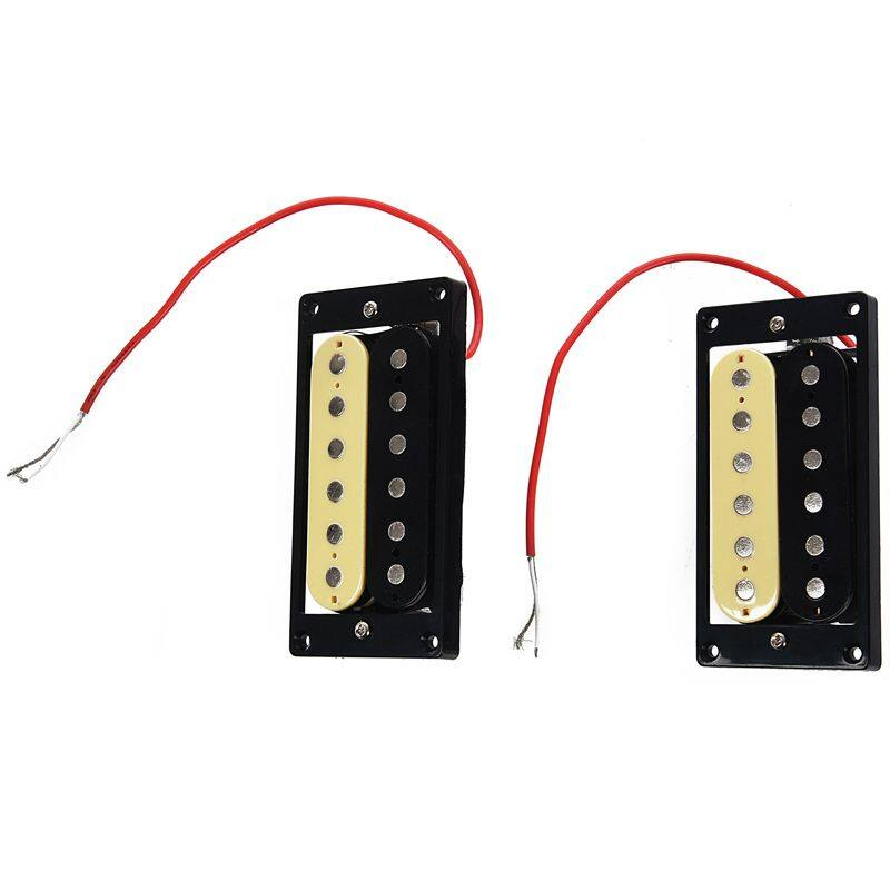 1set of 2 Zebra Faced Humbucker Double Coil Pickups Electric Guitar