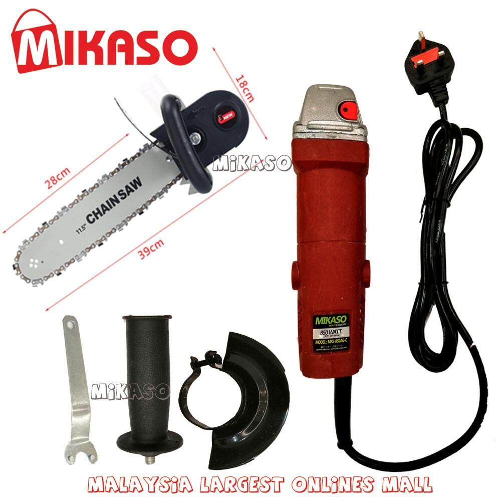 MIKASO CHAINSAW with 4 ANGLE GRINDER 100% Copper Motor