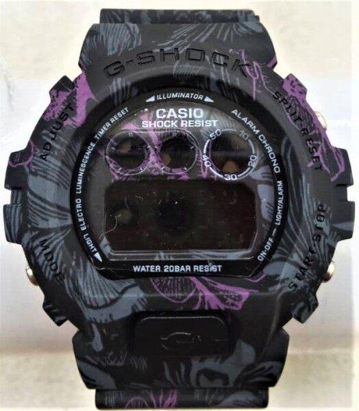 JAM TANGAN G Shock_Tapak Kucing DW 5900 Watch (Cermin Kaca) Two Tone Strap Malaysia
