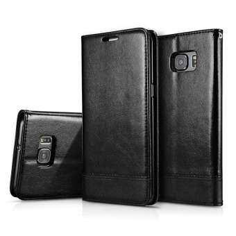 สำหรับซัมซุงกาแล็คซี่ S6 EDGE PLUS ยืนสนับสนุน + ช่องเสียบบัตร + สลิง Folio พลิกหนังโพลียูรีเทนแม่เหล็กเคสปักมือถือโทรศัพท์กระเป๋าสตางค์-