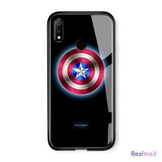 Honinga Ốp Realme 3 Marvel Avengers Dạ Quang Ốp Điện Thoại Ironman Captain America Siêu Anh Hùng Ốp Lưng Kính Cường Lực Phát Sáng Trong Bóng Tối thumbnail
