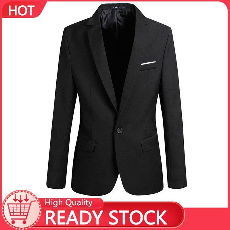 พุดดิ้ง Store เสื้อแจ็คเก็ตสำหรับชายแฟชั่นเกาหลีชายชุดคอ V แขนยาวขนาดเล็กบาง Jackets【ready Stock - คุณภาพสูง】 By Small Strawberry Pudding.