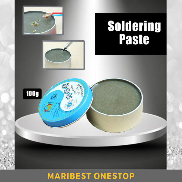 100G SOLDERING PASTE DURABILITY PURE FLUX ROSIN NON-SPILL SOLID SOLDERING WIRE WIELDING SOLDERING IRON TIP CLEANER