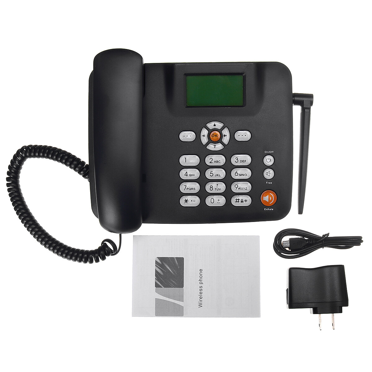 Dual SIM Card Mobile Home Office Desktop Fixed Wireless GSM Desk Phone