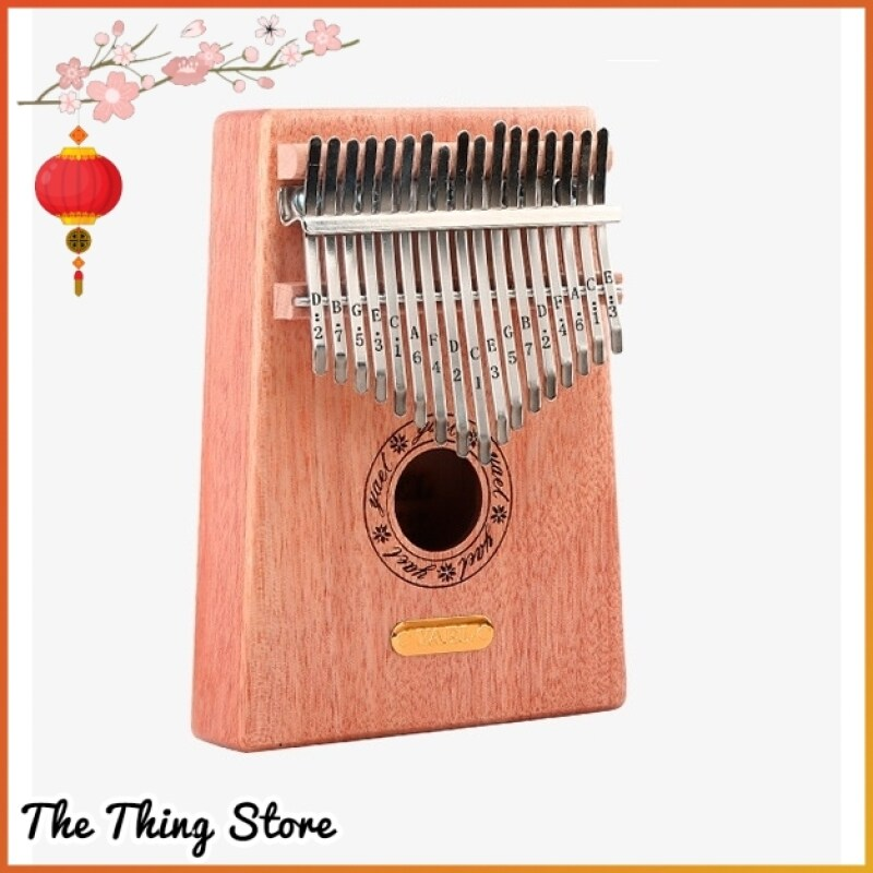 YAEL 17 Key Finger Kalimba Mbira Sanza Thumb Piano With 6 FREE GIFTS - 7232 Malaysia