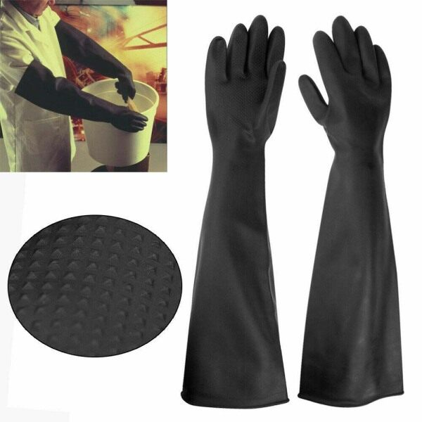 1 Pair Anti-Static Acid Alkali Lab Emulsion No-touching Anti Chemical Labor Supplies Safety Gloves Industry Gloves Latex Gauntlets
