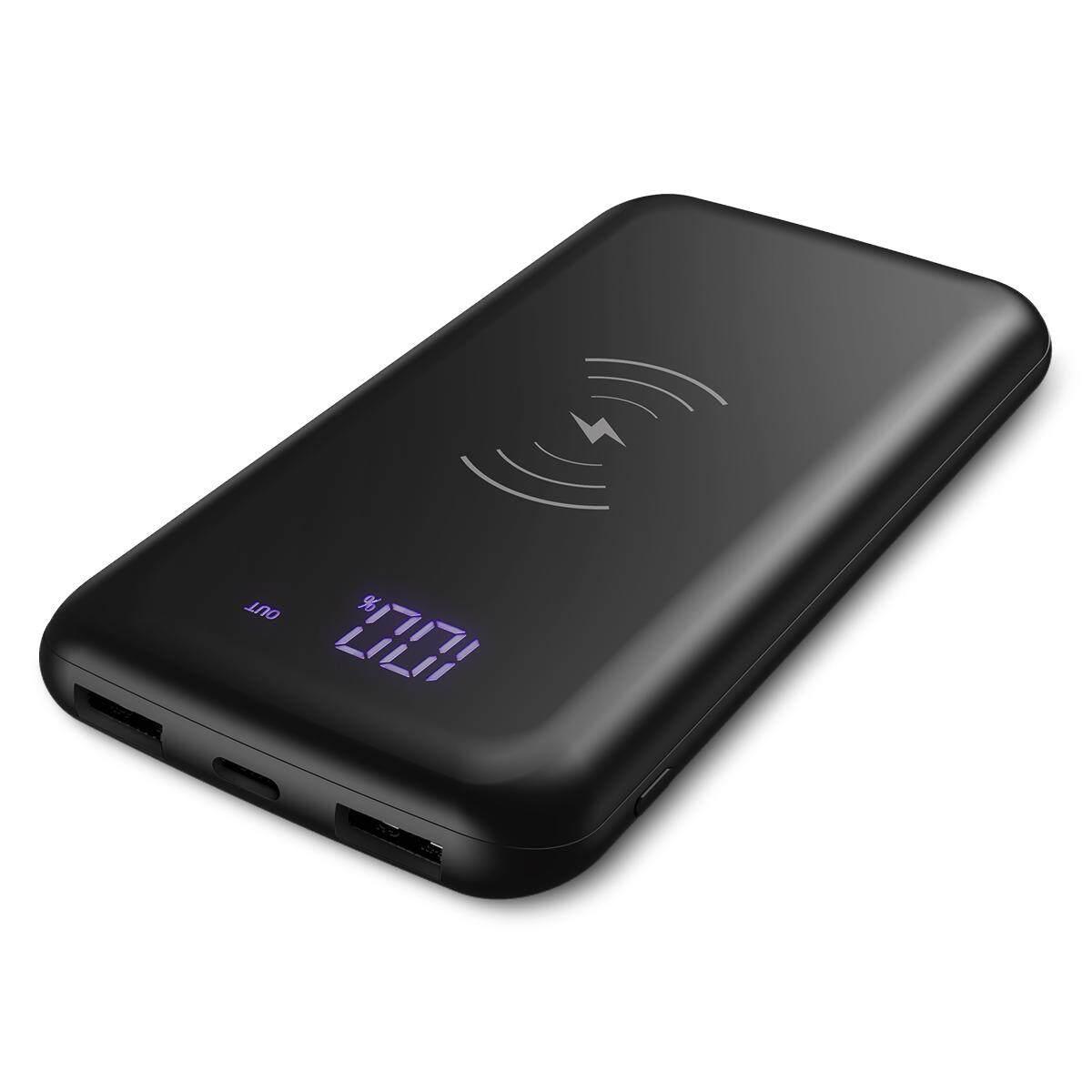 Dodocool 10000 MAh Power Bank Nirkabel Portable Charger Cepat Pengisian dengan Layar Digital LED Baterai Eksternal