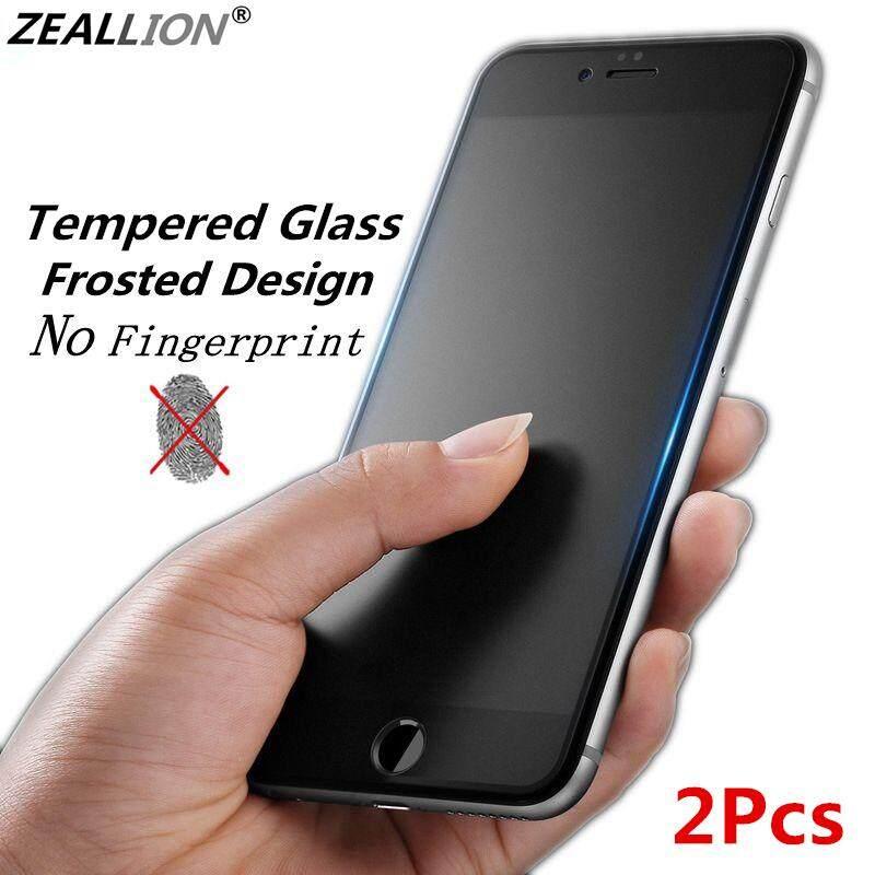 Voucher Khuyến Mại Phim Bảo Vệ Zeallion Cho IPhone, 2 Miếng Dán Màn Hình Kính Cường Lực Mờ Không Có Vân Tay Cho IPhone 5 5S Se 6 6S 7 8 Plus X XS XR 11 Pro Max