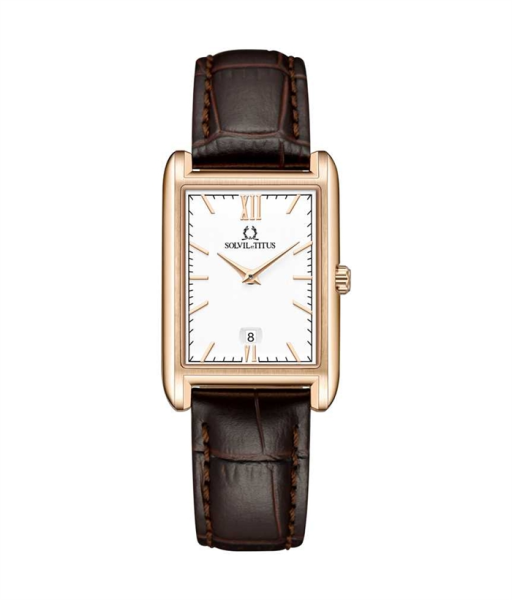 Solvil et Titus W06-03179-005 Womens Quartz Analogue Watch in White Dial and Leather Strap Malaysia