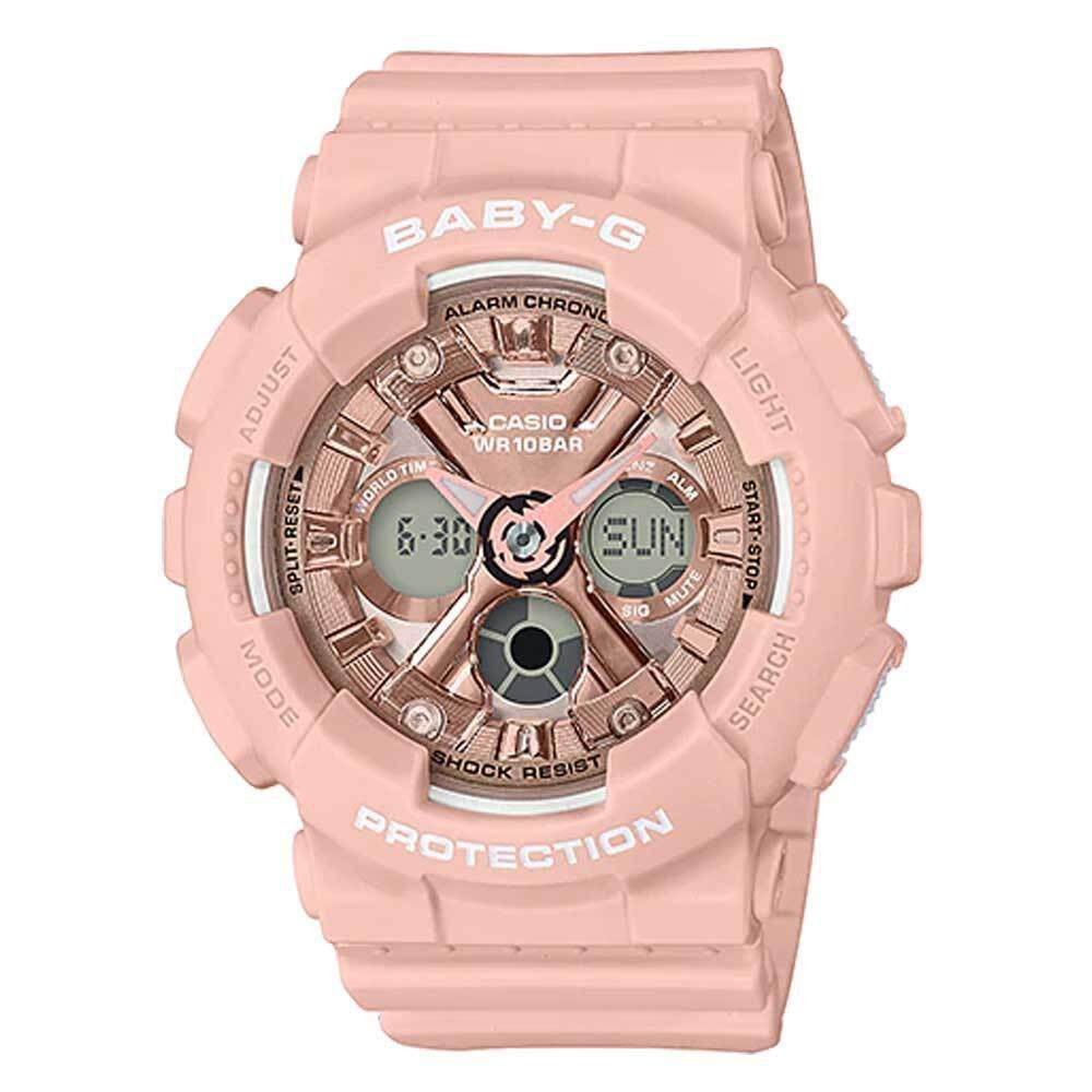 Casio Baby-G BA-130-4ADR Digital Quartz Pink Resin Women Watch Malaysia
