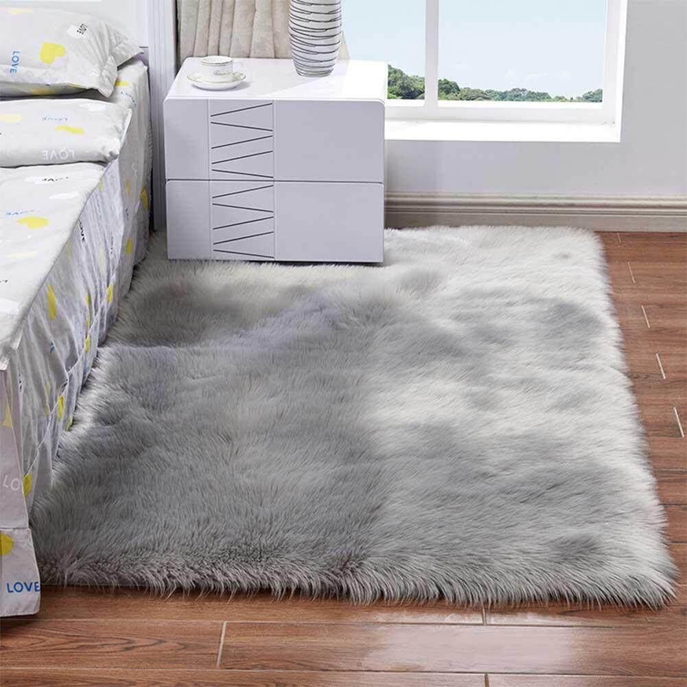 Baby Playmats Wool Imitation Sheepskin Rugs Faux Fur Bedroom Shaggy Carpet Window Mats Livingroom Decor Sofa Office Mats Baby Gyms & Playmats Activity & Gear