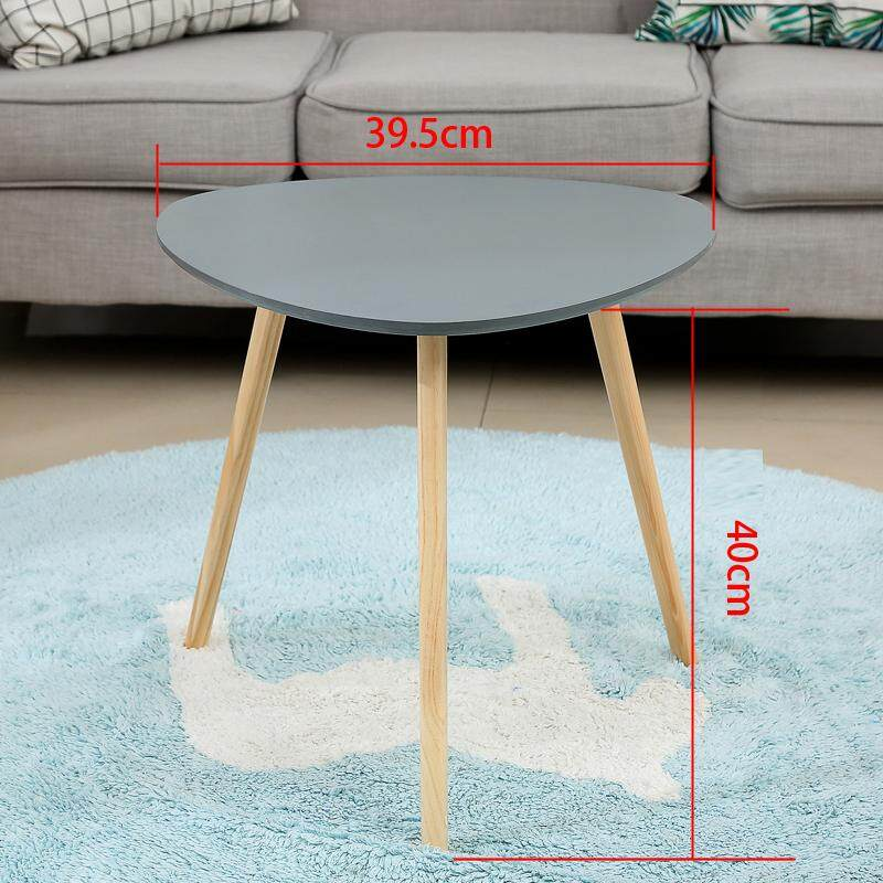 RuYiYu - 3 Wood Legs Coffee Table Round End Side Table, Night Stand Table Telephone Sofa Snack Table for Living Room Home and Office