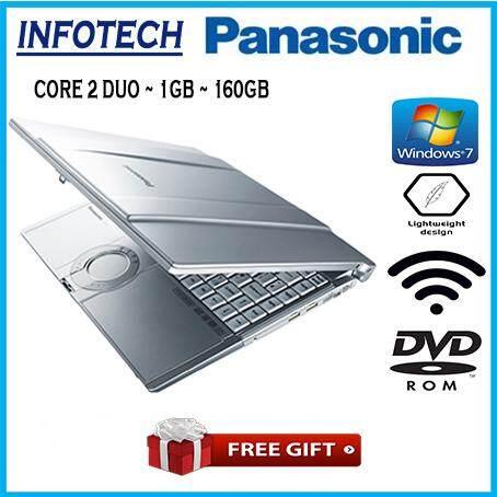 ( Light weight ) Panasonic Toughbook Intel Core 2 Duo 1gb 160gb wifi dvd 14.1 laptop notebook laptop (refurbished) Malaysia