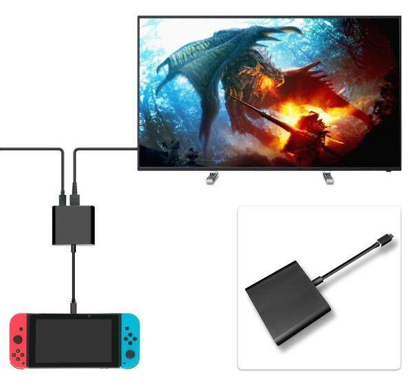 Giá HDMI Loại C dành cho Máy Nintend Chuyển Sang HDMI có Cáp cho Công Tắc