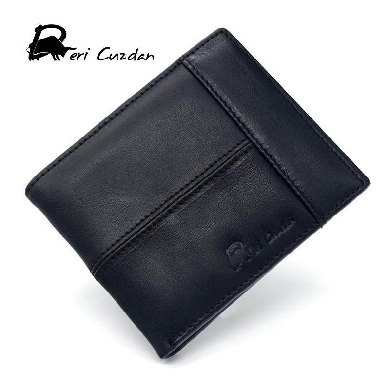 9f155d2eb4fb DERI CUZDAN Genuine Leather Wallet Men Short Wallet with Zip Coins Purse  Photo Top 10 Mens