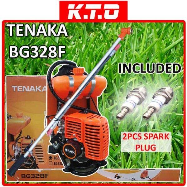 TENAKA BG328F BACK PACK BRUSH CUTTER / MESIN PEMOTONG RUMPUT + 2PCS BRUSH CUTTER SPARK PLUG