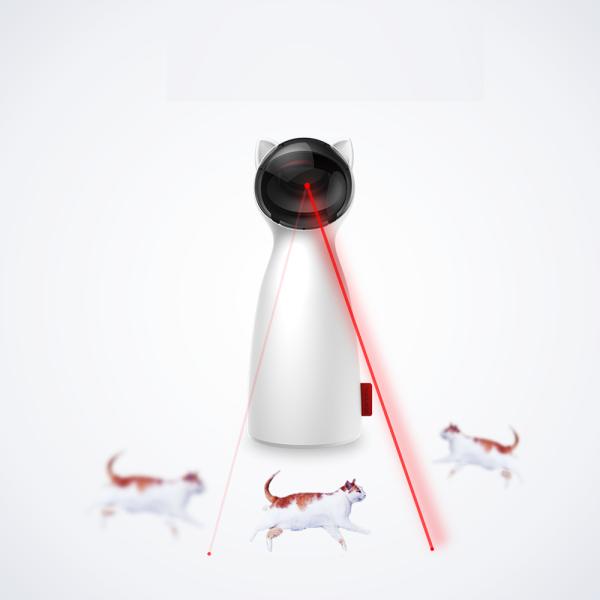 Tự Động Mèo Đồ Chơi Đồ Chơi Mèo LED Laser Trêu Ghẹo, Kitten Tương Tác Đào Tạo Giải Trí Đồ Chơi, Điều Chỉnh Đa Góc Phí USB