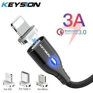 Cáp Từ Khóa Micro USB Loại C, Cáp Cho iPhone Lightning Dây Sạc Nhanh 1M 3A Cáp Sạc Điện Thoại Nam Châm Type-C thumbnail