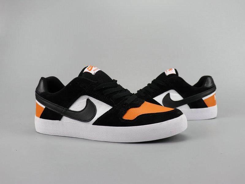 Nike_SB Delta Force VULC Rendah Papan Atas Sepatu Kulit Pria Casual Sneakers