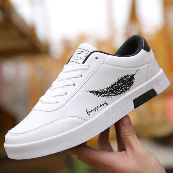 Giày Hợp Thời Trang Mùa Xuân Mới 2021 Trắng Giày Giày Nam Thường Ngày Giày Thể Thao Cổ Thấp Giày Nam Hợp Thời Trang Phong Cách Hàn Quốc Màu Trắng giá rẻ