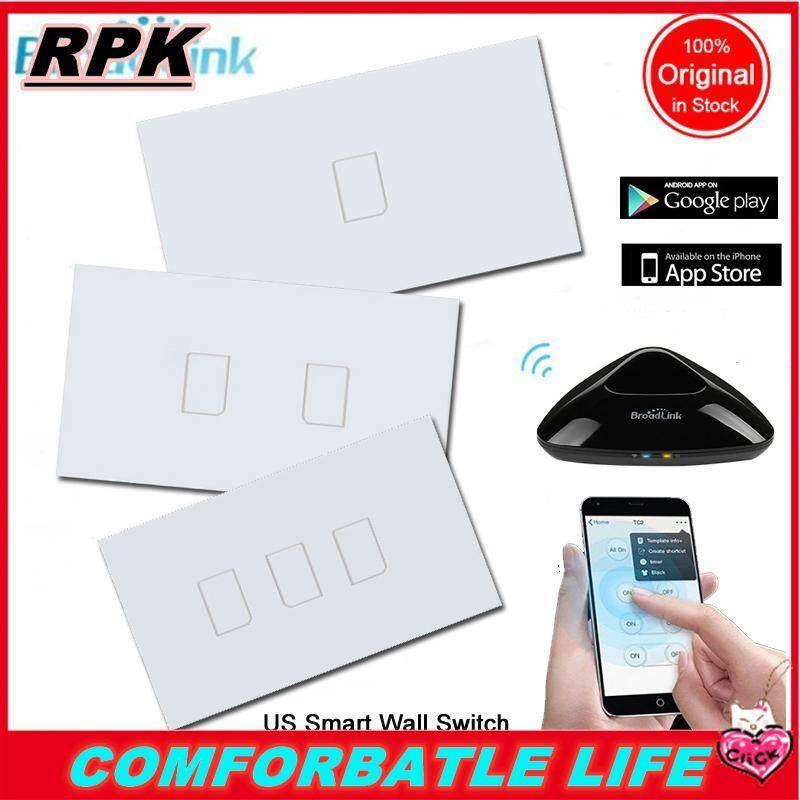 Rpk [[Nhà Giảm Giá Giá]] Broadlink TC2 1/2/3 Băng Đảng Mỹ (170 V-240 v) nhà Thông Minh Công Tắc Đèn Tường Tự Động Điều Khiển Từ Xa Wifi Không Dây LED Đèn Màn Hình Cảm Ứng