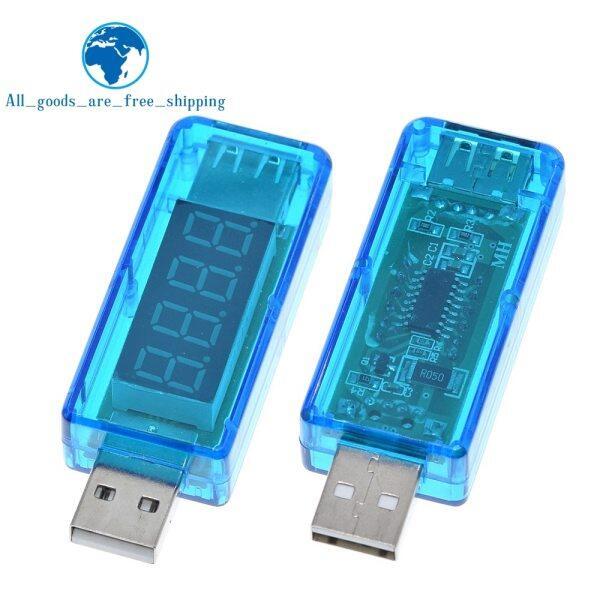 TZT teng Digital USB Mobile Power charging current voltage Tester Meter Mini USB charger voltmeter ammeter Straight blue