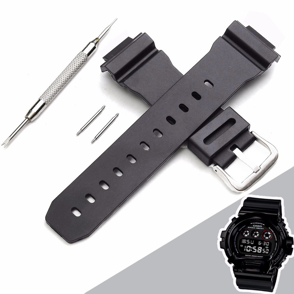 [BDAY SALE] Mens Watch Accessories J3 Replacement Watch Band Strap For G Shock D W-6900 W/ Batch&Needles Malaysia