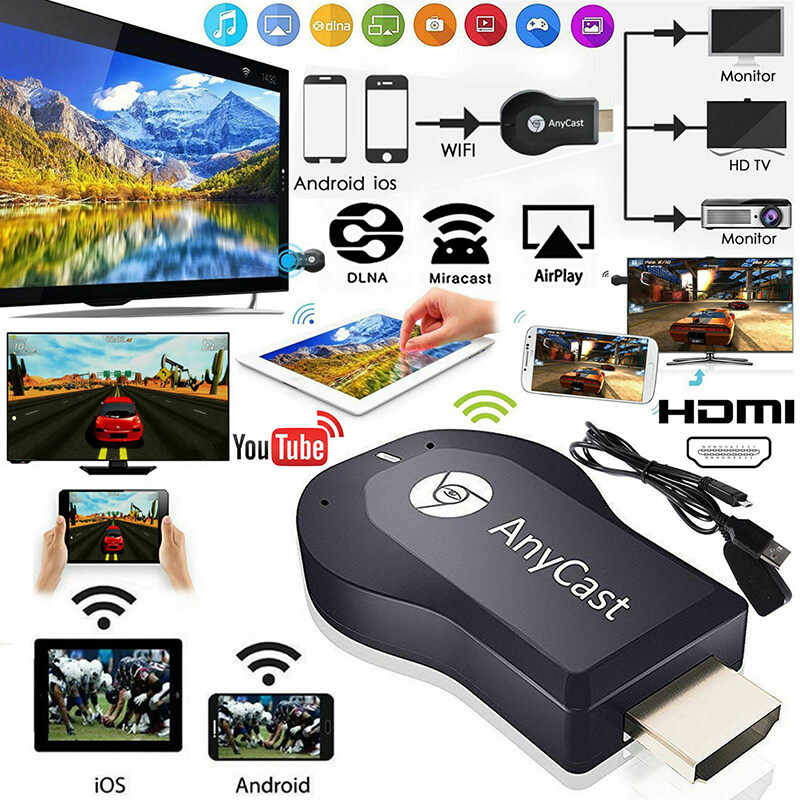 HAHA AnyCast M12 Plus WiFi Receiver Airplay Hiển Thị Miracast HDMI TV DLNA 1080P