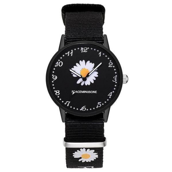 Nylon Strap Style Quartz Women Watch Daisy Fowers Watch For Women Fashion Casual Wrist Watch Ladies Wristwatches Montre Femme Malaysia