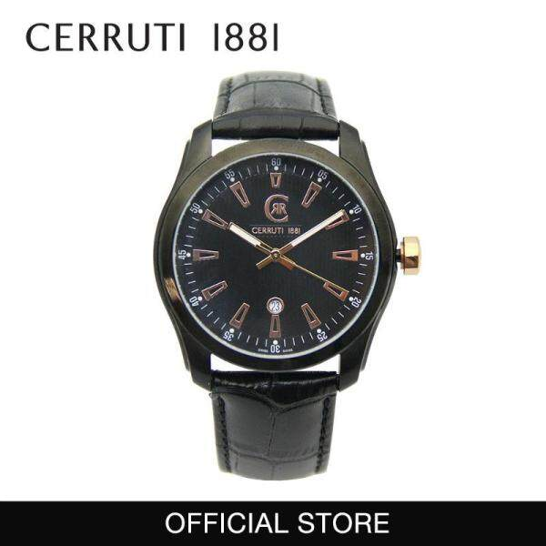 Cerruti 1881 3 Hands Date 42mm Black Leather Strap Men Watch CT100281X02 Malaysia