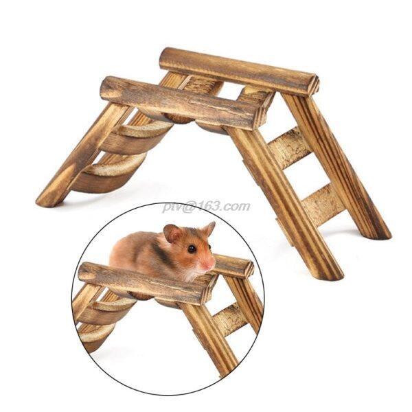 Chuột Hamster Thú Cưng, THANG LEO CẦU Gỗ Hình Chim, Tập Thể Dục Trò Chơi Cầu Thang Đồ Chơi Cung Cấp