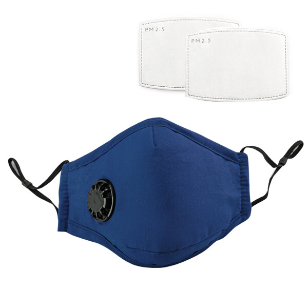 Docooler Face Mask Mouth Cover with 2 Filters Dustproof Respirator with Breathing Valve Washable Reusable Stop Fog PM2.5 Mouth Cover