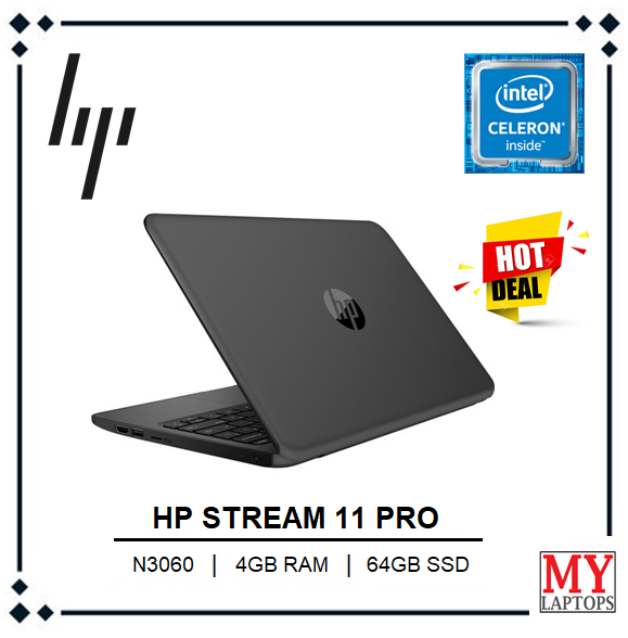 HP Stream 11 Pro Education Edition Laptop [INTEL CELERON-6TH GEN / 4GB RAM / 64GB SSD / LIGHT WEIGHT ULTABOOK] BEST STUDENTS LAPTOP Malaysia