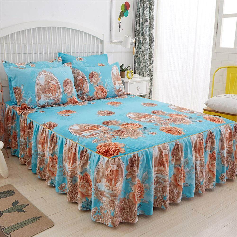 Elegant floral bed set skin cotton bed cover bedding 3PCS 1.5 * 2M